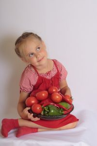 bambini verdure temperacarote