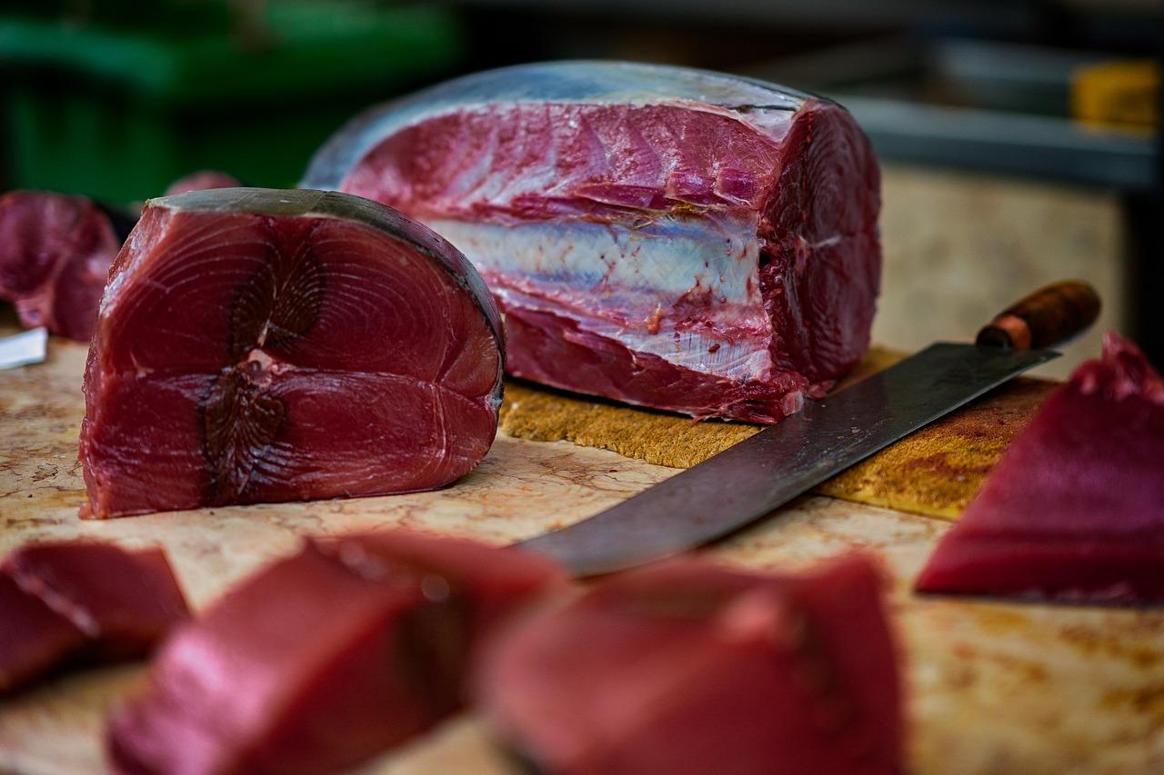 filetti di tonno fresco