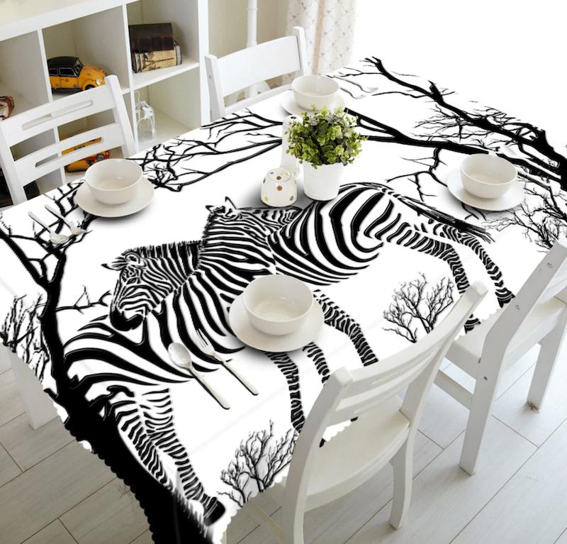 copritavolo zebra