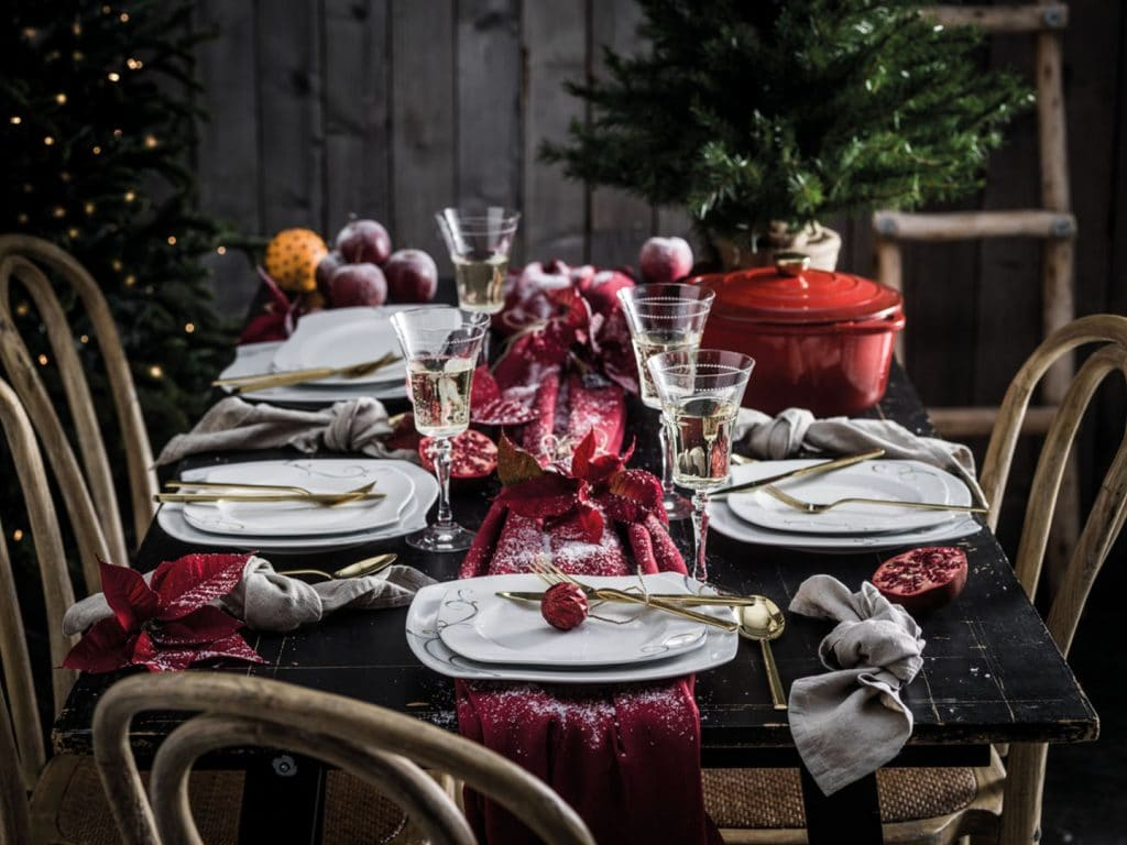 immagini tavola natalizie