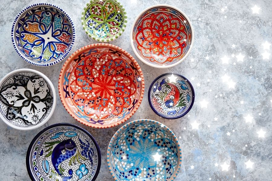 piatti in gres colorati