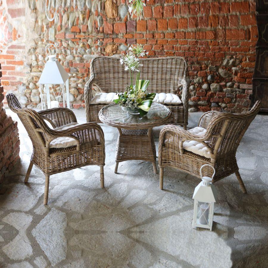 mobili da giardino - rattan naturale